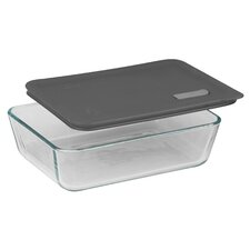 Pyrex No Leak Lid Rectangle Container with Plastic Lid