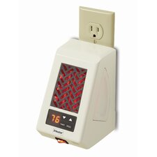 Micro Infrared Baseboard Plug-in Space Heater with Adjustable Thermostat