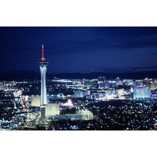 Las Vegas by Night Photographic Print on Canvas