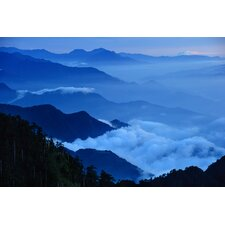 Hehaun Mountain Beneath the Clouds Photographic Print on Canvas