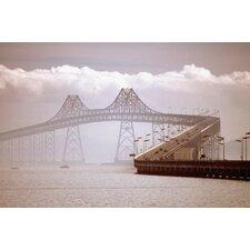 Clouds Over Richmond-San Rafael Bridge Photographic Print on Canvas