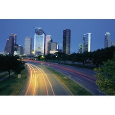 Texas Traffic at Dawn in Houston