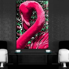 Flamingo Graphic Art on Canvas