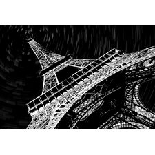 'Eiffel Tower' Paris Graphic Art on Wrapped Canvas