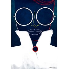 """Glasses Girl"" Graphic Art on Canvas"