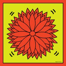 """Flower Power"" Graphic Art on Canvas"