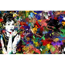 """Audrey Hepburn"" Painting Prints on Canvas"