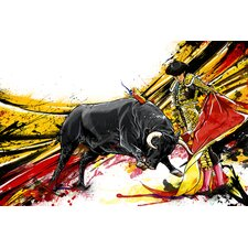 """""""Bull Fighter"""" Graphic Art on Canvas"""