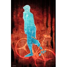 """Bikeman"" Painting Prints on Canvas"