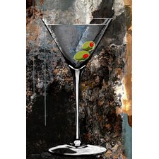 """Martini Glass"" Graphic Art on Canvas"