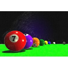 """Billiard Balls"" Graphic Art on Canvas"