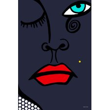 """Beauty Mark"" Graphic Art on Canvas"