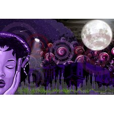 """Midnight Vibes"" Graphic Art on Canvas"