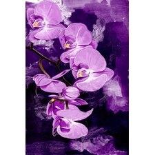 """Purple Orchid"" Painting Prints on Canvas"