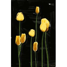 """Yellow Tulips"" Graphic Art on Canvas"