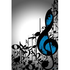 """Music Notes"" Graphic Art on Canvas"