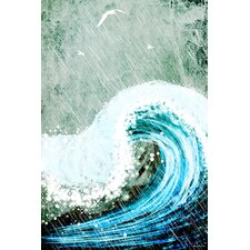 """The Great Wave"" Painting Print on Canvas"
