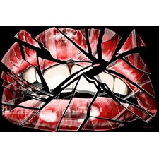 """Shattered Lips"" Graphic Art on Canvas"