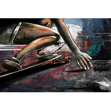 """Road Surfing"" Painting Prints on Canvas"