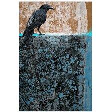 """Crow"" Graphic Art on Canvas"