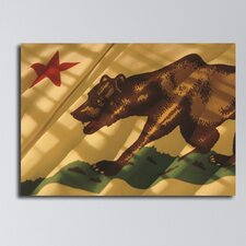 The Flag of California Photographic Print on Canvas