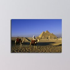 Egypt Great Pyramids Photographic Print on Canvas