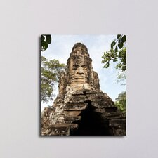 South Gate of Angkor Thom Cambodia Photographic Print on Canvas