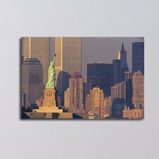 New York Statue of Liberty Photographic Print on Canvas