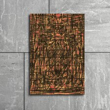 Hot Mess Graphic Art on Canvas in Brown and Pink