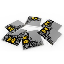 """Alphabets"" Coaster (Set of 6)"