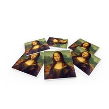 Leonardo da Vinci Mona Lisa Coaster (Set of 6)