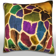 Abstract African Giraffe Throw Pillow