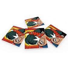 """""""Pow!"""" Coaster (Set of 6)"""
