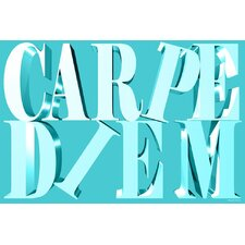 """Carpe Diem"" Textual Art on Canvas"