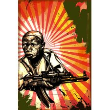"""Child Soldier"" Graphic Art on Canvas"