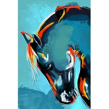 """Blue Stallion"" Painting Prints on Canvas"