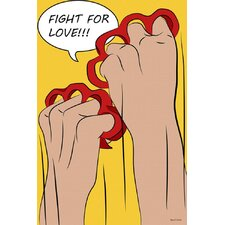 """Fight for Love"" Graphic Art on Canvas"