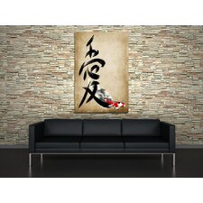 Love Kanji Painting Print on Canvas