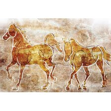 """Horses on the Wall"" Painting Prints on Canvas"