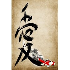 """Love Kanji"" Graphic Art on Canvas"