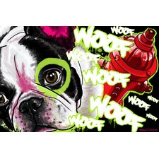 French Dog Graphic Art on Canvas