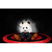 Panda Graphic Art on Canvas