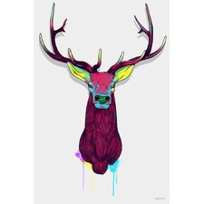 """Elk Head"" Graphic Art on Canvas"