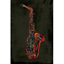 Sax Graphic Art on Canvas