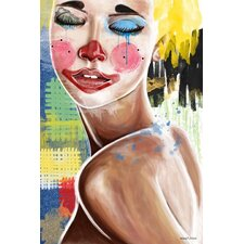 """Tears of a Clown"" Painting Print on Canvas"
