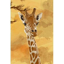 """Giraffe"" Graphic Art on Canvas"