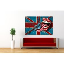 Rock Lips Canvas Print