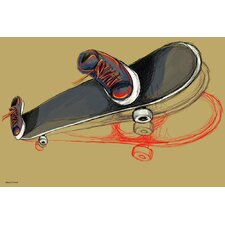 """Skater Skateboard"" Painting Print on Canvas"