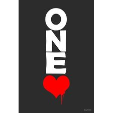 """One Love"" Textual Art on Canvas"