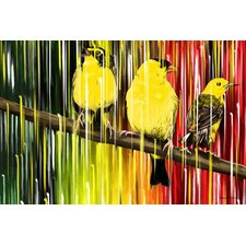 """Three Little Birds"" Graphic Art on Canvas"